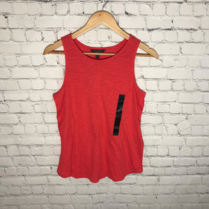 Banana Republic Outlet Red Keyhole Swing Tank